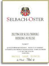 2007 Selbach Oster Zeltinger Schlossberg Schmitt Riesling Auslese