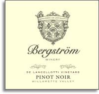 2009 Bergstrom Wines Pinot Noir De Lancellotti Vineyard Chehalem Mountains