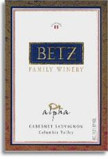 2000 Betz Family Vineyards Cabernet Sauvignon Alpha Columbia Valley