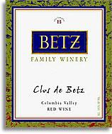 2000 Betz Family Vineyards Clos De Betz Red Wine Columbia Valley