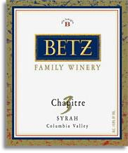 2007 Betz Family Vineyards Syrah Chapitre 3 Columbia Valley
