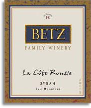 2012 Betz Family Vineyards Syrah La Cote Rousse Red Mountain