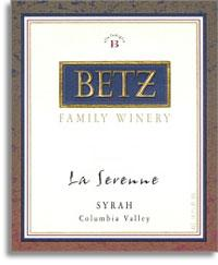 2012 Betz Family Vineyards Syrah La Serenne Yakima Valley