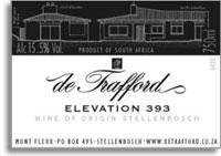 2009 De Trafford Wines Elevation 393 Stellenbosch