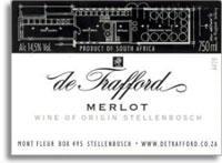 2005 De Trafford Wines Merlot Stellenbosch