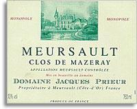 2010 Domaine Jacques Prieur Meursault Clos De Mazeray Rouge