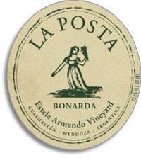 2007 La Posta Bonarda Estela Armando Vineyard Mendoza