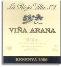 2004 La Rioja Alta Vina Arana Reserva Rioja