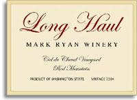 2011 Mark Ryan Winery Long Haul Red Mountain