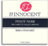 2012 St. Innocent Winery Pinot Noir Shea Vineyard Yamhill-Carlton District