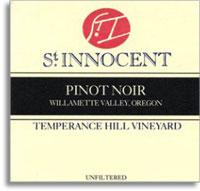 2014 St. Innocent Winery Pinot Noir Temperance Hill Willamette Valley