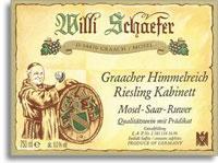 2011 Willi Schaefer Graacher Himmelreich Riesling Kabinett