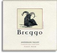 2010 Breggo Cellars Pinot Noir Ferrington Vineyard Anderson Valley