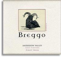 2010 Breggo Cellars Pinot Noir Savoy Vineyard Anderson Valley