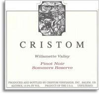 2010 Cristom Vineyards Pinot Noir Sommers Reserve Willamette Valley