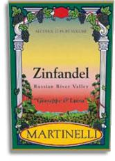 2013 Martinelli Winery Zinfandel Guiseppe and Louisa Russian River Valley