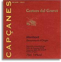 2007 Celler De Capcanes Costers Del Gravet Montsant