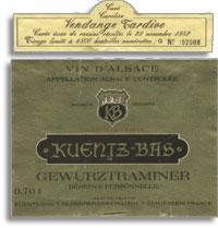 2007 Domaine Kuentz-Bas Gewurztraminer Vendange Tardive Cuvee Caroline