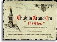 2004 Domaine Vincent Dauvissat Chablis Les Clos