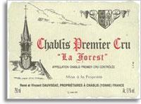 2010 Domaine Vincent Dauvissat Chablis La Forest