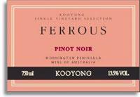 2010 Kooyong Pinot Noir Ferrous Mornington Peninsula