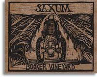 2011 Saxum Vineyards Booker Vineyard Paso Robles