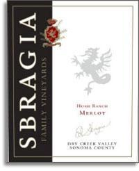 2010 Sbragia Family Vineyards Merlot Home Ranch Dry Creek Valley