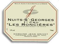 2012 Domaine Jean Grivot Nuits-Saint-Georges Les Roncieres