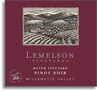 2010 Lemelson Vineyards Pinot Noir Meyer Vineyard Willamette Valley