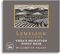 2011 Lemelson Vineyards Pinot Noir Thea's Selection Willamette Valley