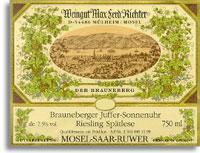 2011 Max Ferdinand Richter Brauneberger Juffer-Sonnenuhr Riesling Spatlese
