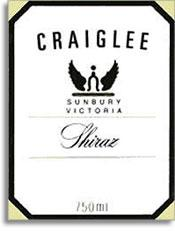 2008 Craiglee Vineyard Shiraz Sunbury Victoria