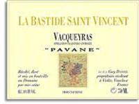 2011 La Bastide Saint Vincent Vacqueyras Pavane