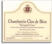 2007 Domaine Robert Groffier Pere & Fils Chambertin-Clos de Beze