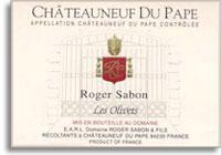 2013 Domaine Roger Sabon Chateauneuf-du-Pape les Olivets