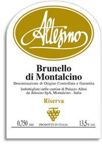 2006 Altesino Brunello Di Montalcino Riserva
