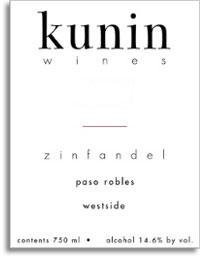 2007 Kunin Wines Zinfandel Westside Paso Robles