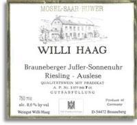 2007 Willi Haag Brauneberger Juffer Sonnenuhr Riesling Auslese 7