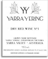 2011 Yarra Yering Vineyards Dry Red Wine No 1 Yarra Valley