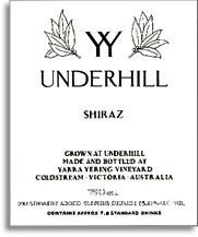 2011 Yarra Yering Vineyards Shiraz Underhill Yarra Valley