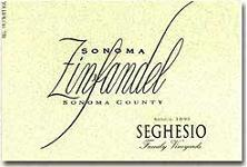 2012 Seghesio Family Vineyards Zinfandel Sonoma County
