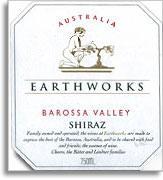2012 Earthworks Wines Shiraz Barossa Valley