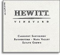 2009 Hewitt Cabernet Sauvignon Rutherford Napa Valley