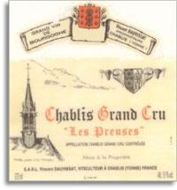 2012 Caves Jean Et Sebastien Dauvissat Chablis Les Preuses