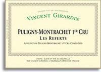 2012 Domaine/Maison Vincent Girardin Puligny-Montrachet Les Referts