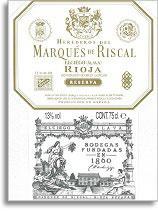 2001 Marques De Riscal Rioja Reserva