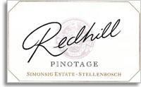 2010 Simonsig Family Vineyards Red Hill Pinotage Stellenbosch