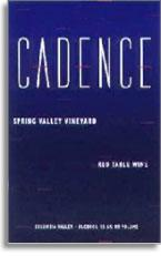 2002 Cadence Winery Red Table Wine Spring Valley Vineyard Walla Walla Valley
