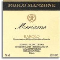2010 Paolo Manzone Barolo Meriame