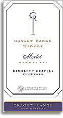 2013 Craggy Range Vineyards Merlot Gimblett Gravels Vineyard